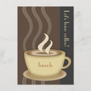 Coffee Cup Personalized Medium Invitation starting at 2.20