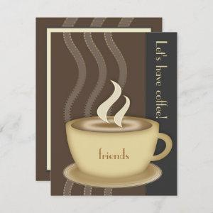 Coffee Cup Small Custom Invitation starting at 2.20