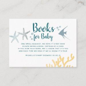 Color trend Under the Sea Baby Shower Book Request Enclosure Card starting at 0.35