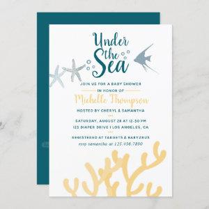 Color trend Under the Sea Ocean themed Baby Shower Invitation starting at 2.40