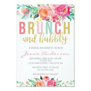 Colorful Brunch & Bubbly bridal shower invitation starting at 2.26