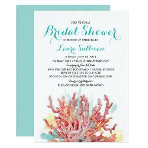 Colorful Coral Reef Watercolor | Bridal Shower Invitation starting at 2.61