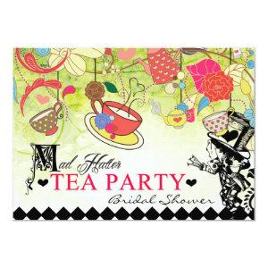 Colorful Mad Hatter Bridal Shower Invitation starting at 2.82