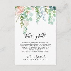 Colorful Tropical Floral Wedding Wishing Well Enclosure Card starting at 1.91