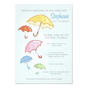 Colorful Umbrellas Bridal Shower Invitation starting at 2.82
