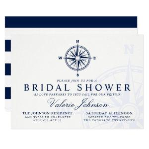 Compass Rose | Nautical Themed Bridal Shower Invitation starting at 2.40