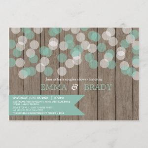 Confetti Wood Rustic Couples Shower Invitation starting at 2.55