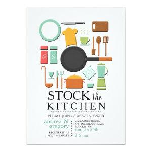 Cooking Tools Stock the Kitchen Shower Invitation starting at 2.56