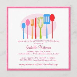 Cooking Utensils Stock the Kitchen Bridal Shower Invitation starting at 2.46