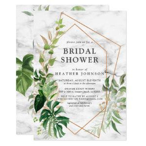 Copper Marble Geometric Tropical Gold Shower Invitation starting at 2.15