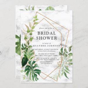 Copper Marble Geometric Tropical Gold Shower Invitation starting at 2.40