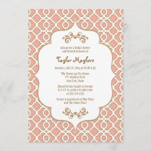 Coral Gold Moroccan Bridal Shower Invites starting at 2.66