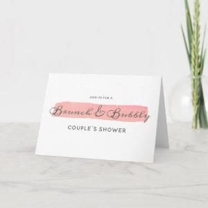 Coral Kiss Ombre Brunch & Bubbly Couple's Shower Invitation starting at 3.45