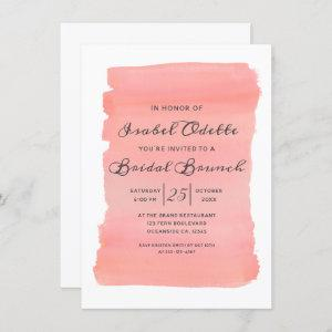 Coral Kiss Ombre Watercolor Bridal Shower Brunch Invitation starting at 2.10