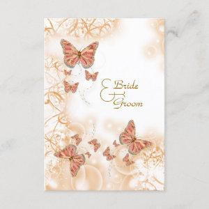 Coral peach butterfly rsvp starting at 2.00