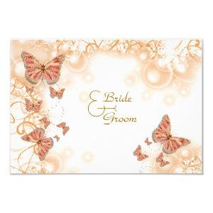 Coral peach gold wedding engagement anniversary invitation starting at 2.10