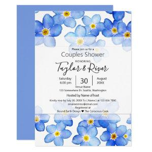 Country Blue Forget-Me-Nots Couples Shower Invitation starting at 2.40