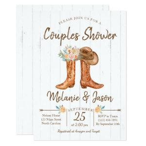 Country Boots Couples Co-Ed Bridal Shower Invitation starting at 2.56