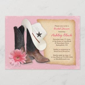 Country Bridal Shower Invitation | Cowboy Cowgirl starting at 2.66
