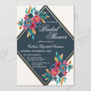 Country Fall Gold Watercolor Flowers Bridal Shower starting at 2.50