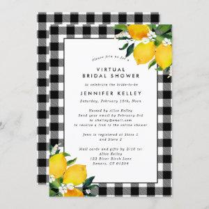 Country Lemons and Gingham Bridal Shower Invitation starting at 2.40