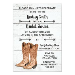 Country Love Western Rustic Cowboy Bridal Shower Invitation starting at 2.45