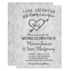 Country Rustic Birch Tree Heart Wedding Invitation starting at 2.40