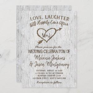 Country Rustic Birch Tree Heart Wedding starting at 2.40