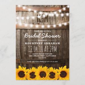 Country Rustic Bridal Shower | Sunflowers Invitation starting at 2.51