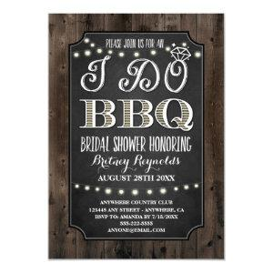Country Rustic I Do BBQ Bridal Shower Invitations starting at 2.25