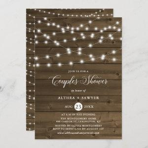 Country Rustic String Lights Couples Shower Invite starting at 2.40