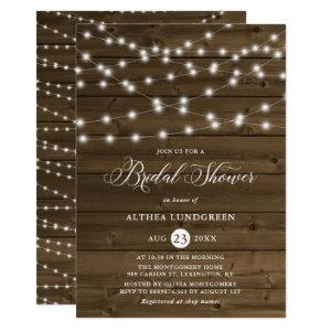 Country Rustic String Lights Wood Bridal Shower Invitation starting at 2.40