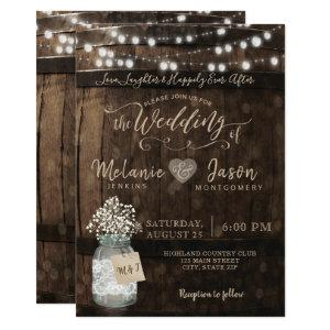Country Rustic Wood Barrel Wedding Invitations starting at 2.26