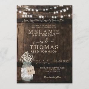 Country Rustic Wood Barrel Wedding Invitations starting at 2.51