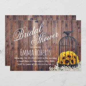 Country Sunflower & Birdcage Rustic Bridal Shower Invitation starting at 2.40