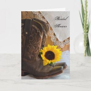Country Sunflower Lace Bridal Shower Invitation starting at 3.45