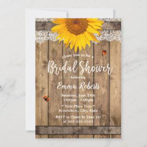Country Sunflower Rustic Lace Barrel Bridal Shower Invitation starting at 2.40