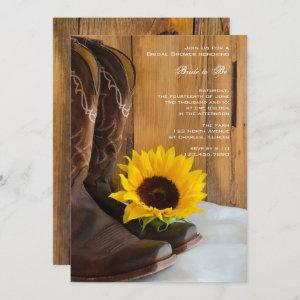 Country Sunflower Western Bridal Shower Invitation starting at 2.60
