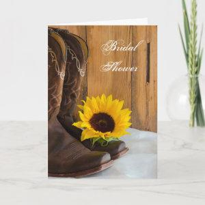 Country Sunflower Western Bridal Shower Invitation starting at 3.55