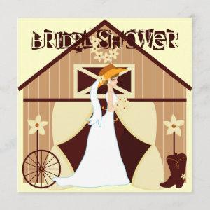 Country Western Cowgirl Bridal Shower Invitations starting at 2.72