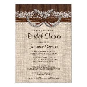 Country Western Horseshoe Bridal Shower Invitation starting at 2.65