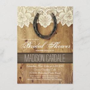 Country Western Horseshoe Lace Bridal Shower Invitation starting at 2.15