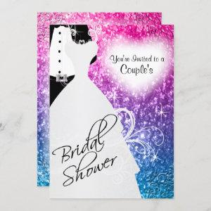 Couple's Bridal Shower in an Elegant Glitter Color Invitation starting at 2.40