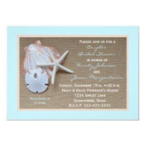 Couples Bridal Shower Invitation -- Beach Burlap starting at 2.61