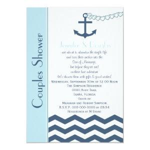Couples Coed Wedding Shower Invitation - Nautical starting at 2.61