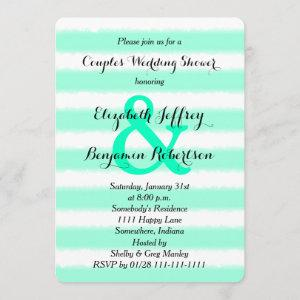 Couples Coed Wedding Shower Invitation Watercolor starting at 2.76