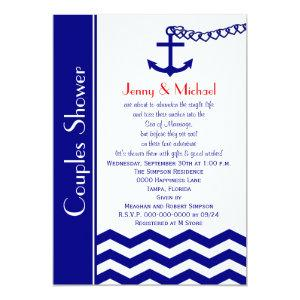 Couples Coed Wedding Shower Invitations Navy Blue starting at 2.61