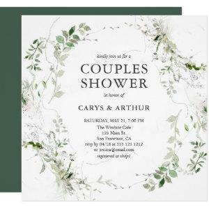 Couples Shower Greenery Modern Invitation starting at 2.30