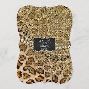 Couples Shower Natural Gold Leopard Animal Print Invitation starting at 3.23