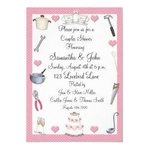 Couples Shower Pink Hearts Invitation starting at 2.85